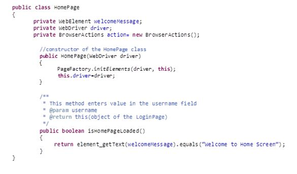 Page Object Model (POM) using Page Factory in Selenium